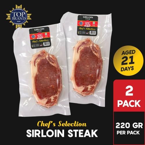 Foto Produk KIBIF Sirloin Steak / Daging Sapi Sirloin @ 220 Gr Multipack dari KIBIF Official Store