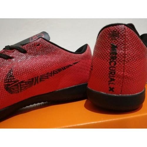 Foto Produk Sepatu Futsal Nike Mercurial Vapor XII Elite CR7 Stunning Red Black dari mukri store839