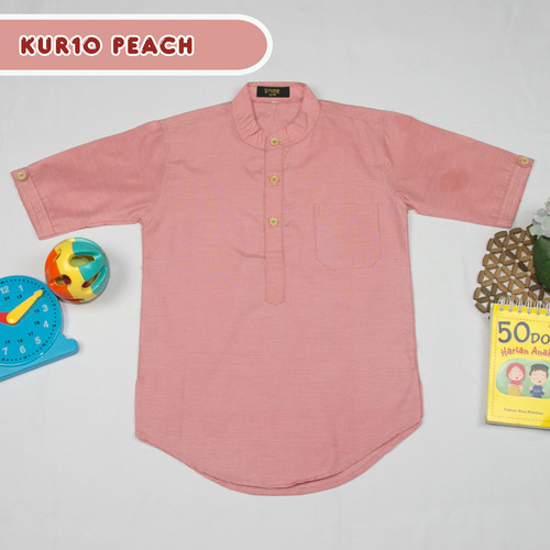 Foto Produk Baju Koko Anak Kurta 4 sd 9 Tahun Tanpa Celana - PEACH, S dari Bidenbuy