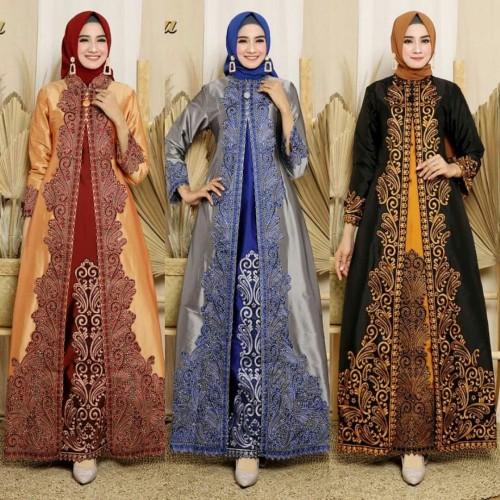 Foto Produk Abaya Taffeta Gamis Muslim Shinta Motif Bordir dari Kebaya Modern Mode