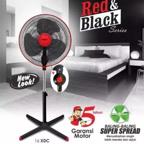 Foto Produk kipas angin COSMOS berdiri 16 XDC - stand fan 16 inci - red black dari sini grosir