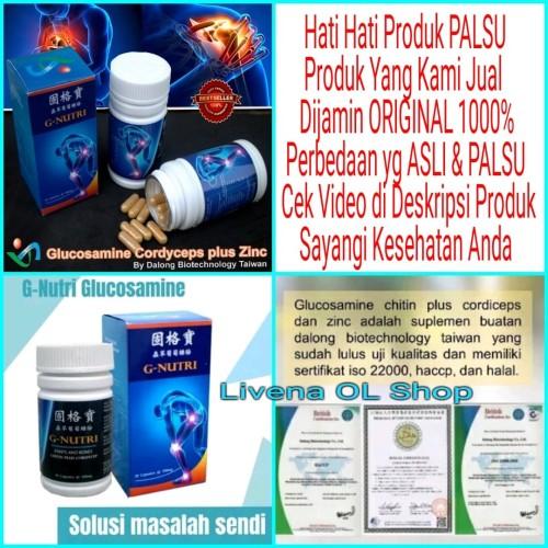 Foto Produk G-NUTRI Glucosamine Cordyceps Plus Zinc ORIGINAL 100% dari Livena OL Shop