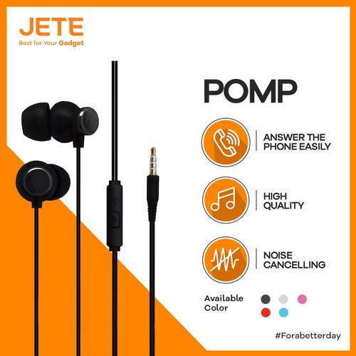 Foto Produk HEADSET | HEADPHONE | HANDSFREE | EARPHONE JETE POMP - Putih dari JeteIndonesia