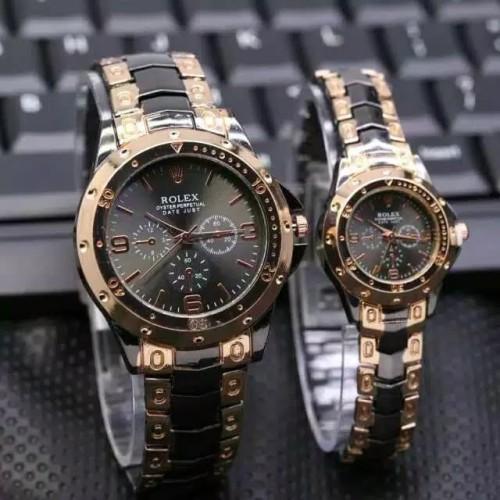 Foto Produk Jam Tangan Rolex Baut Harga Sudah Pasangan Couple New HITAM ROSE GOLD dari BBASHOP888