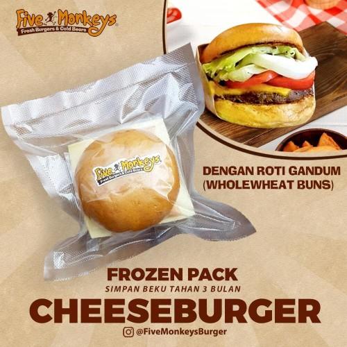 Foto Produk Cheeseburger with Wheat Bun (Frozen Burger) dari Five Monkeys Burger