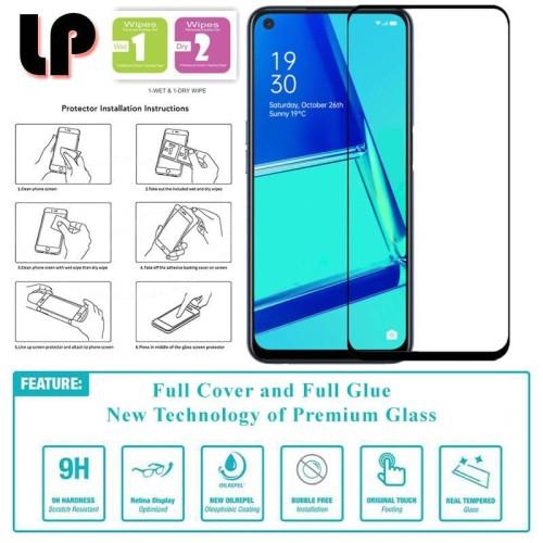 Foto Produk LP Full Glue Tempered Glass Oppo A52 - A92 - Cover Kaca Original Black dari Logay Accessories