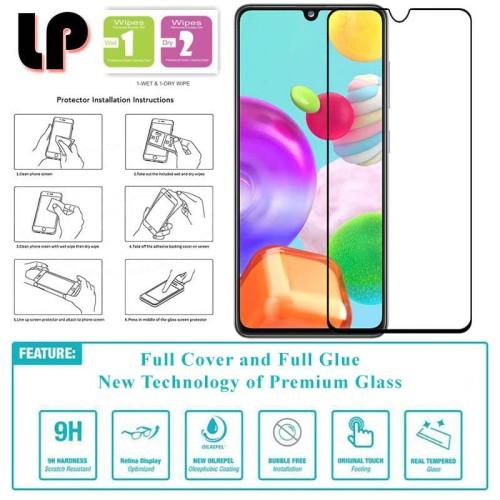 Foto Produk LP Full Glue Tempered Glass Samsung Galaxy A31 - Cover Kaca Original dari Logay Accessories