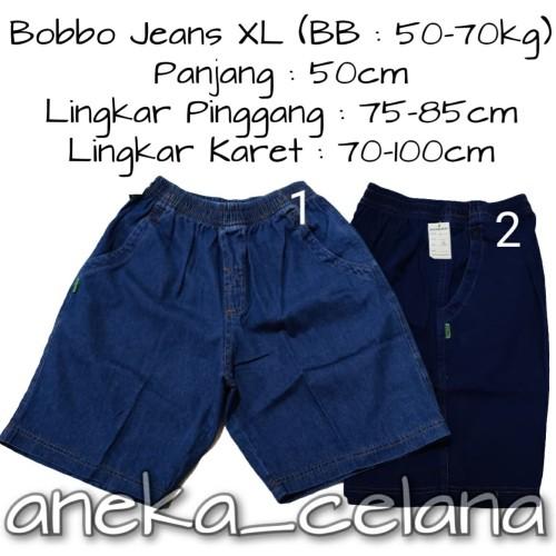 Foto Produk Celana Jeans Pendek Karet Polos Size XL - No.1 dari ANEKA CELANA