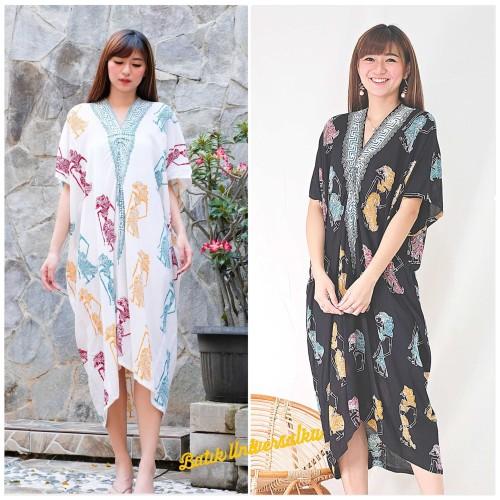 Foto Produk Kaftan Batik Wayang Dress Modern. Jumbo. Big size - Wayang Rnb - Hitam dari Batik Universal