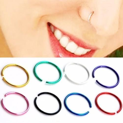Foto Produk ANTING HIDUNG JEPIT PUTIH murah - Nose Ring anting tanpa tindik grosir dari Kado Toys