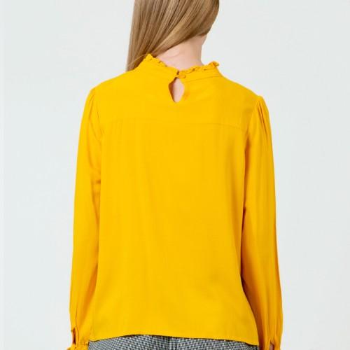 Foto Produk Colorbox Ruffle Long Sleeve Blouse I:Blwkey120D033 Yellow - Kuning, XS dari Colorbox Indonesia