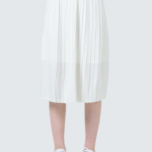 Foto Produk Colorbox Off White Maxi Pleated Skirt I-Sxwkey120D013 Off White - Off White, L dari Colorbox Indonesia