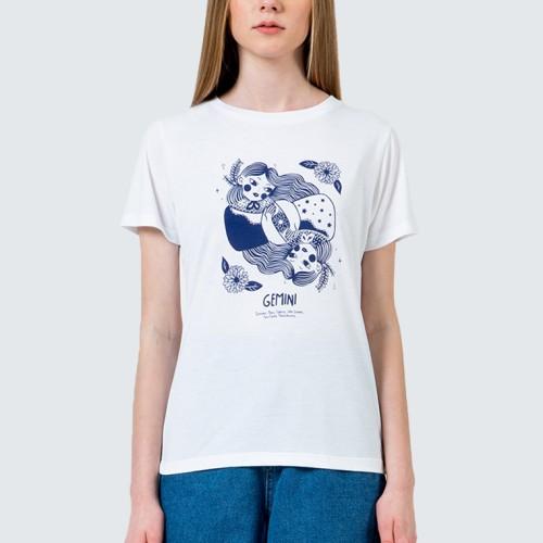 Foto Produk Colorbox Gemini round neck t-shirt I:Tskkey120D311 Off White - Off White, XS dari Colorbox Indonesia