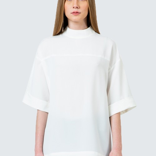 Foto Produk Colorbox Off white High Neck short blouse I-Bswkey120D012 Off White - Off White, S dari Colorbox Indonesia