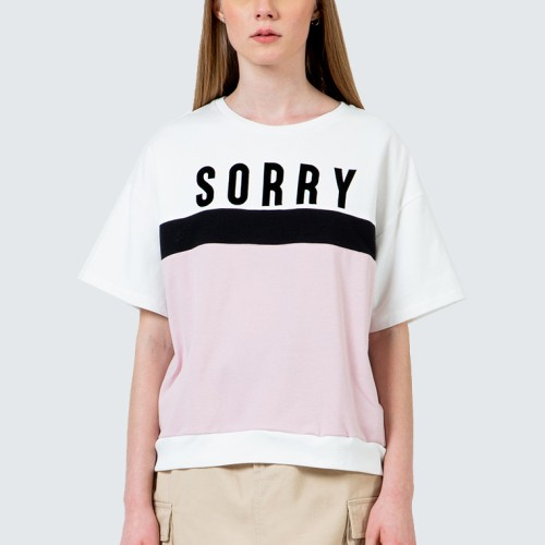 Foto Produk Colorbox Oversized Sorry Tee I-Bskfct120D006 Pink - Pink, S dari Colorbox Indonesia