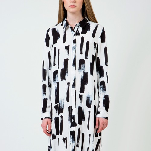 Foto Produk Colorbox Abstract Print Shirt dress I-Ddwfct120D003 White - White, S dari Colorbox Indonesia