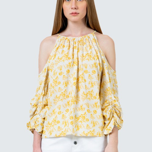Foto Produk Colorbox Cold Shoulder printed blouse I-Blwfcr120D017 White - White, S dari Colorbox Indonesia