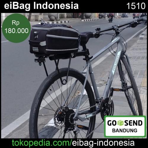 Foto Produk Tas Pannier sepeda | Tas sepeda eibag 1510 hitam - Merah dari eibag-indonesia