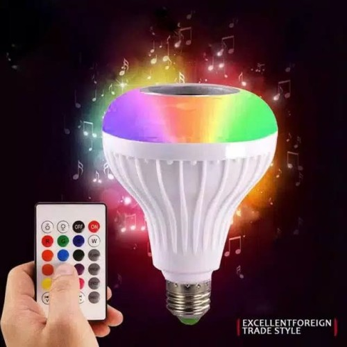 Foto Produk speaker bluetooth wireless lampu music LED RGB bohlam speaker dari ariesaccstore