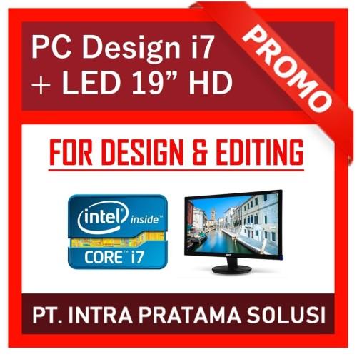 Foto Produk PC Office / Design (Core i7 + RAM 16GB + SSD 256GB + VGA GT730 4GB) dari PT. Intra Pratama Solusi