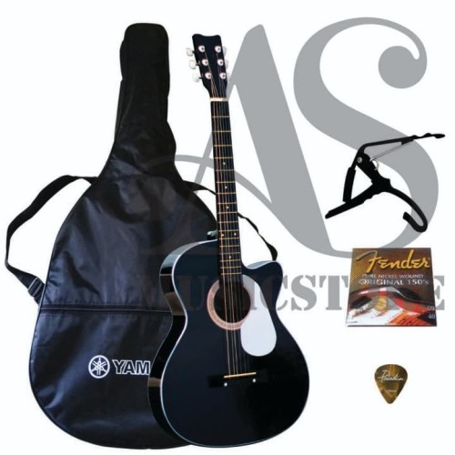 Foto Produk Gitar Akustik Yamaha Hitam / Gitar Untuk Pemula dari sarabeautycare and music