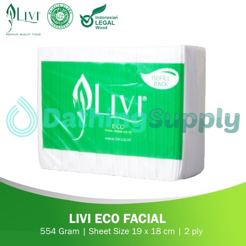 Foto Produk Livi Eco Facial 600 Sheets dari Dathing Supply