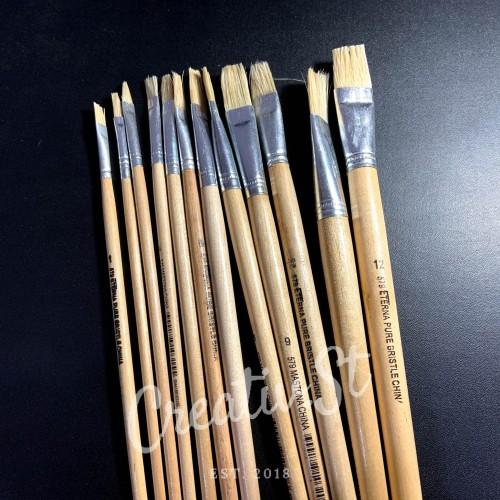 Foto Produk Kuas Lukis Putih LENGKAP Eterna no 1-12 - 2 dari Creativ Stationery