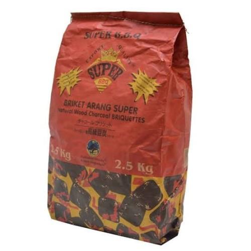 Foto Produk Briket Arang Super BBQ 2.5 kg Pak dari SEMBAKO EL Barraq