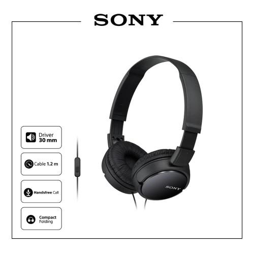 Foto Produk SONY MDR-ZX110AP On Ear Headphone / ZX110 / ZX-110AP / ZX110AP - Putih dari Sony Audio Official