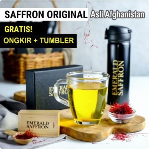 Foto Produk Emerald Saffron, Grade A (Negin Super Special) Afganistan 1 gr + Bonus dari madu-phuceng.id