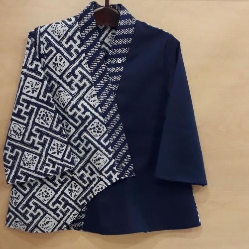 Foto Produk Blus batik kimono - Navy Blue, L dari batik afis