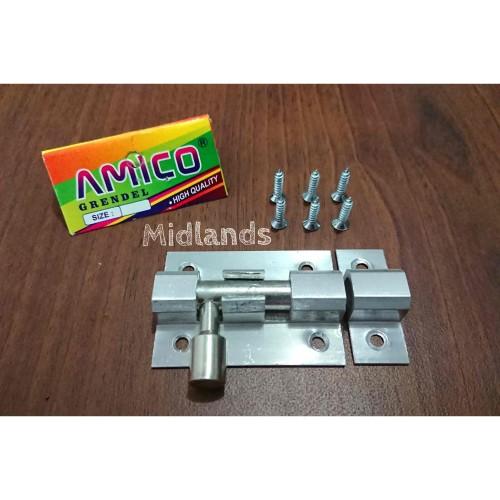"Foto Produk Grendel Pintu 2"" inch , Selot Pintu, Grendel Jendela 2 inch merk Amico dari Midlands"