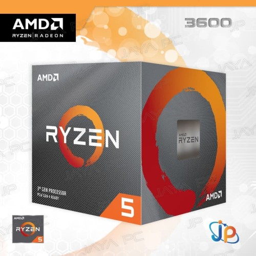 Foto Produk Processor AMD Ryzen 5 3600 3.6 - 4.2 GHz Socket AM4 Matisse dari Jaya PC
