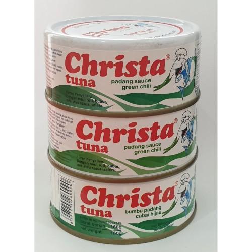 Foto Produk Paket isi 3 Christa Tuna - Tuna Bumbu Padang Cabai Hijau Dalam Kaleng dari Christa Tuna Official