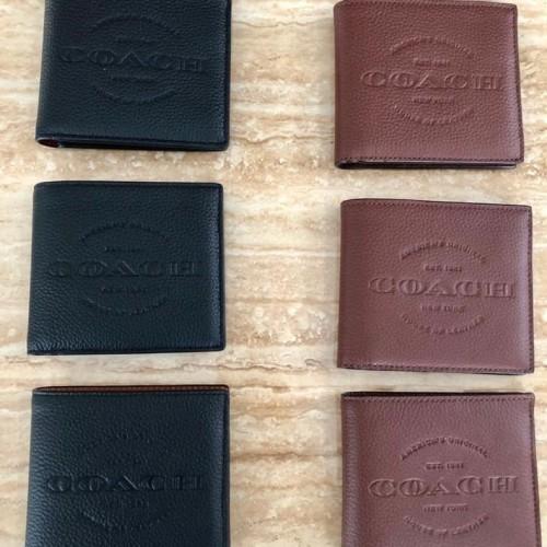 Foto Produk Ready Coach Double Bill Wallet Calf Leather Dark Brown Black dari ferliarj16