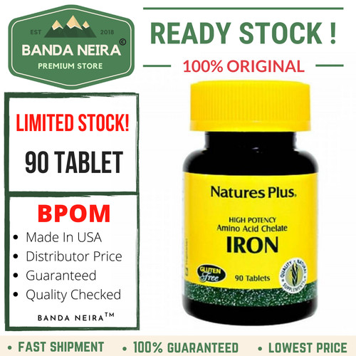 Foto Produk Nature's Plus Iron 90 Tablet - BPOM dari Banda Neira Store