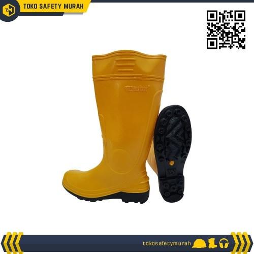 Foto Produk Sepatu Boot Karet Pvc Anti Air Kuning dari Toko Safety Murah