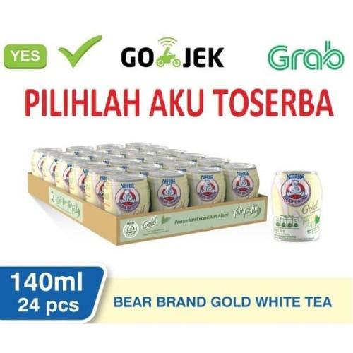 Foto Produk Susu Beruang Bear Brand Gold White TEA - 140 ml (1pack isi 24) dari Pilihlah Aku Toserba