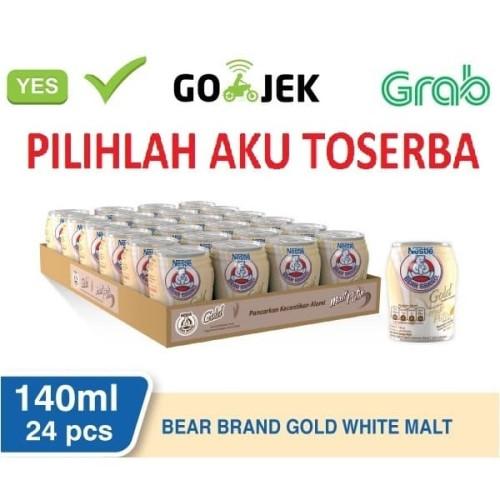Foto Produk Susu Beruang Bear Brand Gold White Malt - 140 ml (1pack isi 24) dari Pilihlah Aku Toserba