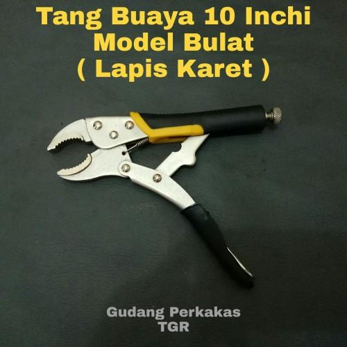 Foto Produk Tang Buaya 10 Inch Bulat/Tang Jepit Lapis Karet - CARLTON dari GUDANG PERKAKAS