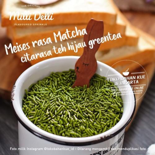 Foto Produk Milli Delli Meises GREENTEA 100gr Meses Green Tea Sprinkle Premium dari Toko Bahan Kue Jakarta 2