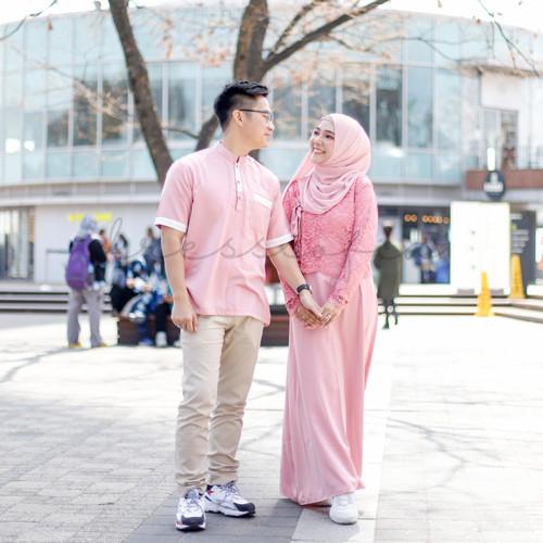 Foto Produk Hanbok Azalea Set: Dress + Outer Brukat + Baju Koko - Cotton Candy dari sheenofficial