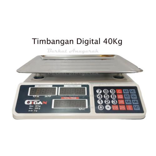 Foto Produk Timbangan Duduk 40 Kg Digital Scale 40kg Double Display Led GIGAN dari Berkat Anugerah Teknik