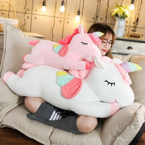 Foto Produk Boneka Unicorn Sayap Plush Cotton Soft - Putih 30CM dari Happy Fun Olshop