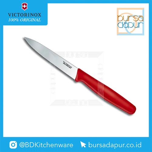 Foto Produk Pisau 5.0701 Victorinox Red Paring Knife 10 cm (20,5 cm) dari Bursa Dapur