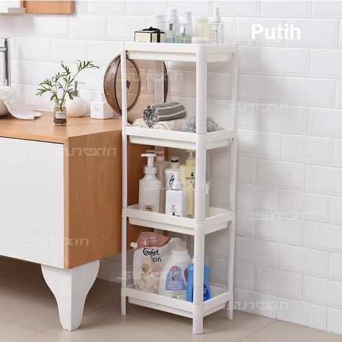 Foto Produk Rak Kamar Mandi / Ruang Tamu Tidur / Dapur Rak Penyimpanan Serbaguna - Putih dari SUNXIN