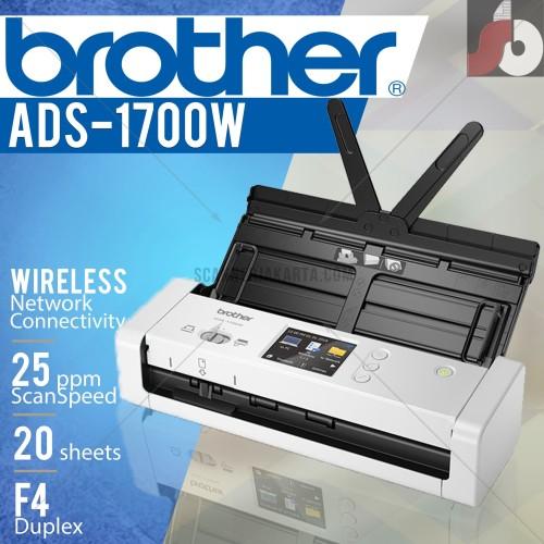 Foto Produk Scanner Brother ADS 1700W - wifi scanner dari scanner bandung