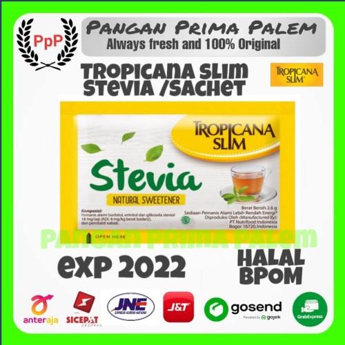 Foto Produk Tropicana Slim Sweetener Stevia 100pcs/Pack Gula Jagung dari Pangan Prima Palem