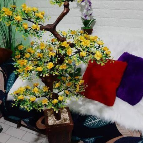 jual termurah bunga bonsai plastik sudut/pojok kualitas