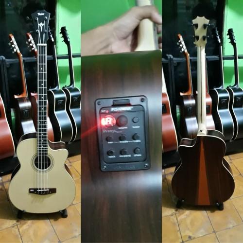 Foto Produk Bass akustik elektrik taylor custom Neck maple double run FISHMAN dari Mamets Galeri Akustik